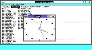 Windows 2.01 - Clock