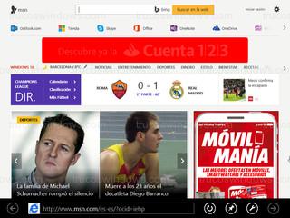 Windows 8 - Internet Explorer (metro)