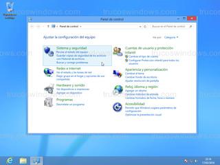 Windows 8 - Panel de control