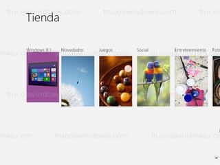 Windows 8 - Windows Store categorías