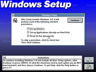 Windows 3.0 - Windows Setup