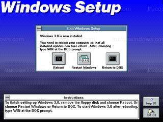 Windows 3.0 - Exit Windows Setup