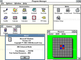 Windows 3.0 - Información del sistema