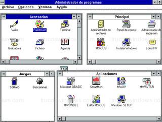 Windows 3.1 - Administrador de programas