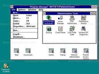 Windows NT 3.51 - Administrador