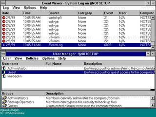 Windows NT 3.51 - Event Viewer