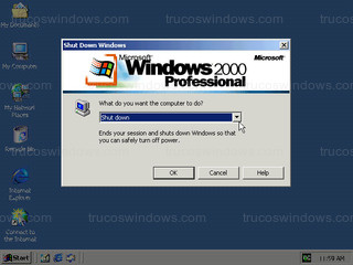Windows 2000 - Shut down