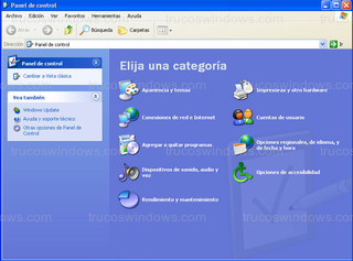 Windows XP - Panel de control
