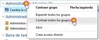 Windows 10 - Contraer grupos