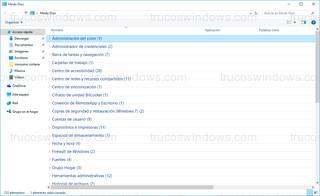 Windows 10 - Grupos contraídos
