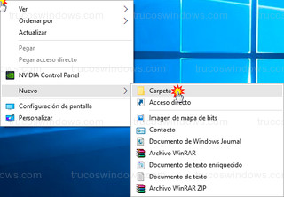Windows 10 - Crear nueva carpeta