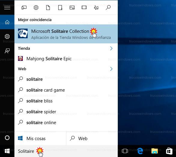 Truco solitario en Windows 10 | Trucos Windows