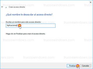 Windows 10 - Nombre del acceso directo