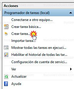 Programador de tareas - Crear tarea...
