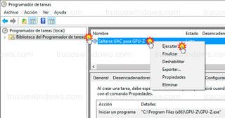 Programador de tareas - Ejecutar tarea programada