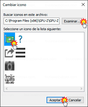 Acceso directo - Elegir icono a mostrar