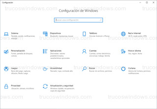 Windows 10 - Panel de configuración