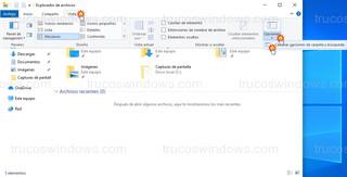 Explorador de archivos - Cambiar opciones de carpeta y búsqueda