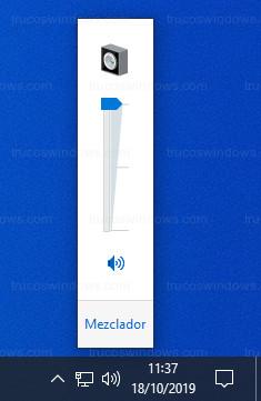 Windows 10 - Antiguo control de volumen