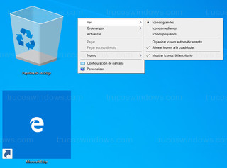 Windows 10 - Tamaño de iconos personalizados