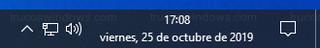 Reloj de Windows - Formato de fecha larga