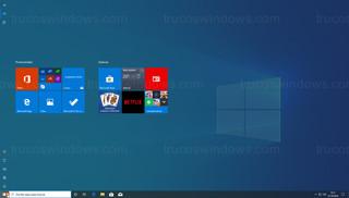 Windows 10 - Menú de Inicio pantalla completa