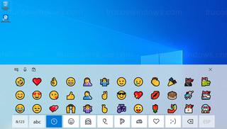Windows 10 - Emojis en teclado táctil
