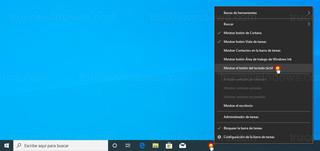 Barra de tareas de Windows - Mostrar el botón del teclado táctil
