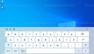 Windows 10 - Teclado táctil