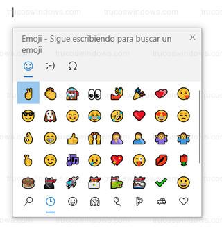 Windows 10 - Ventana flotante con emojis