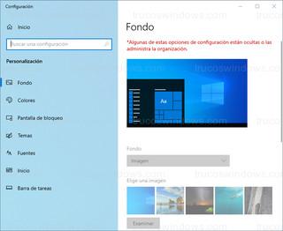 Windows 10 - Fondo de pantalla bloqueado