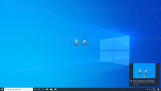 Centro de actividades de Windows - Notificación