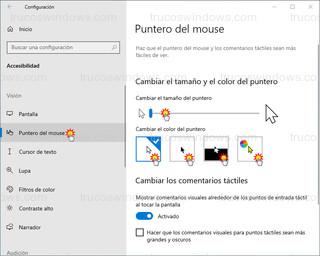 Puntero del mouse - Personalizar puntero del ratón