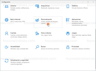 Configuración - Personalización