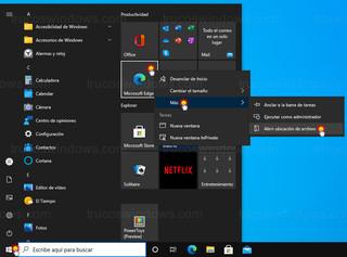 Windows 10 - Abrir ubicación de archivo