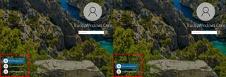 Pantalla de Login de Windows 10 - Cuenta de usuario ocultada
