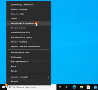 Windows 10 - Administrador de dispositivos