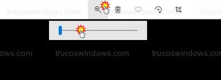 App Fotos de Windows 10 - Zoom con deslizador