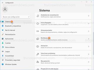 Windows 11 - Sistema > Multitarea