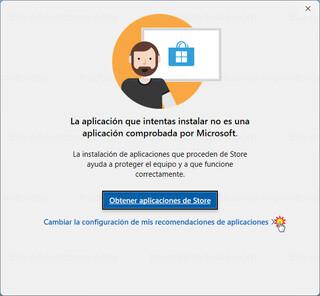 Windows 11 - Aplicación no comprobada por Microsoft