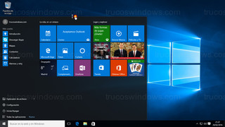 Windows 10 - Menú de inicio ajuste vertical