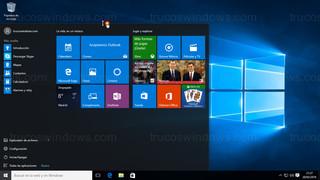 Windows 10 - Menú de inicio ajuste vertical