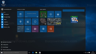 Windows 10 - Menú de inicio colocar baldosa
