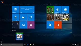 Windows 10 - Menú de inicio a pantalla completa