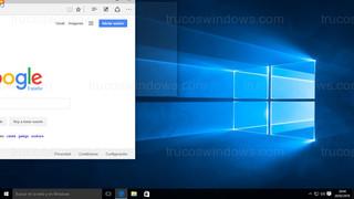 Windows 10 - Ventana posición arriba a la izquierda con marco transparente