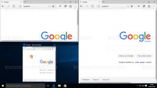 Windows 10 - Ventana posición arriba izquierda con vista miniatura