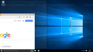 Windows 10 - Ventana posición izquierda con marco transparente