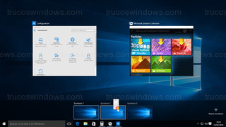 Windows 10 - Cambiar ventana de escritorio virtual arrastrando