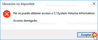 Windows 10 - Acceso denegado