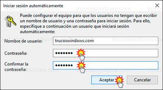 Windows 10 - Iniciar sesión automáticamente